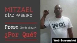 Mizael Díaz Paseiro /Póster de la Campaña #PresosPorque del Departamento de Estado de EEUU en 2018.