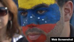 Manifestante venezolano. Foto de archivo.