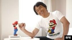 Mario y su creador Miyamoto