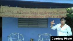 Bibliotecaria independiente Midaisy Marrero Gil, en Aguada de Pasajeros