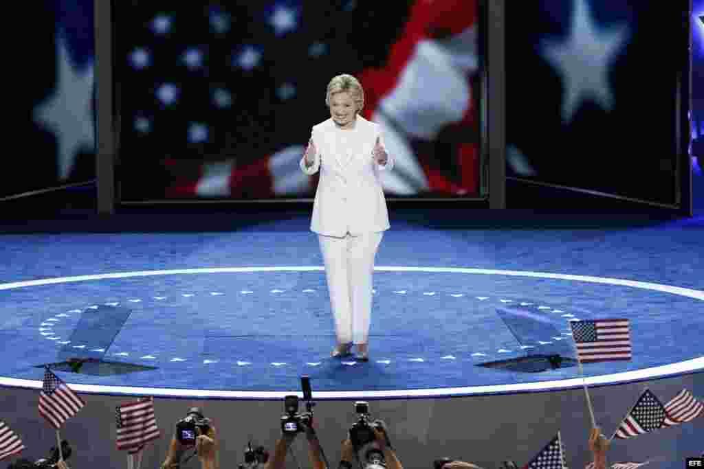La candidata a la presidencia de Estados Unidos por el Partido Demócrata, Hillary Clinton