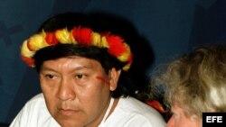 El líder y chamán indígena yanomami Davi Kopenawa.