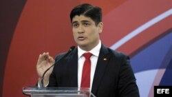 El presidente electo de Casta Rica, Carlos Alvarado.