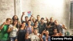 Una protesta del Movimiento San Isidro, MSI (Tomado del perfil de Facebook de Anamely Ramos González).