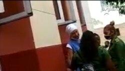 Thais Mailen Franco, trasladada al hospital Calixto García para examen físico