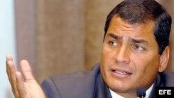 Fotografía de archivo del presidente de Ecuador, Rafael Correa.