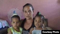 Anyell Valdés Cruz, madre soltera residente en Boyeros, La Habana.