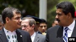 Nicolas Maduro y Rafael Correa.