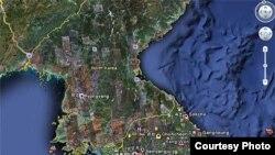 Mapas de Corea del Norte y Sur en Google