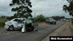 Imagen del accidente publicada por el diario brasileño O'Globo.