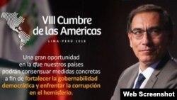 Perú da la bienvenida a presidentes de la región asistentes a la VIII Cumbre de las Américas.