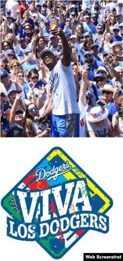 Puig en un cartel promocional de Viva Los Dodgers. (Captura de pantalla/MLB)