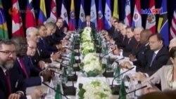 Trump se reúne con 12 líderes del Hemisferio Occidental y aboga para que impidan triunfar al socialismo
