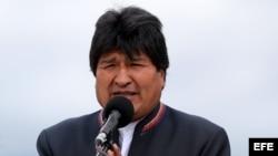 El presidente de Bolivia, Evo Morales, a la base militar de Catam en Bogotá (Colombia).