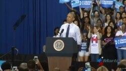 Obama anima a los jóvenes a apoyar a Hillary con su voto