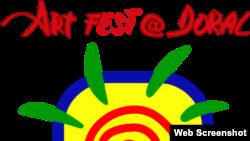 Logo del Festival de Arte del Doral 2014.