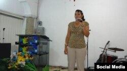 """Pastora Maday González, del movimiento cristiano """"Mover Apostólico"""", en Guáimaro, Las Tunas, Cuba. (FACEBOOK)."""