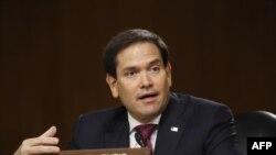 Marco Rubio, senador republicano de origen cubano. (Andrew Harnik / AFP).