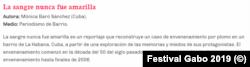 Sinopsis del Festival sobre el artículo de Monica Baró