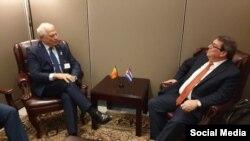 Reunión entre Joseph Borrell y Bruno Rodríguez en Naciones Unidas. Tomado de @JosepBorrellF