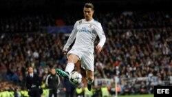 Cristiano Ronaldo hizo magia para el Real Madrid en el estadio Santiago Bernabéu. Foto Archivo