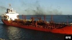Barco de petróleo. Foto: Archivo.