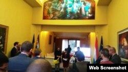 Embajada de Cuba presenta cartera de negocios a empresarios belgas.