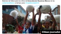 Reporta Cuba Extendiendo nuestras manos a niños cubanos Junio 2014 Foto @FHRCuba