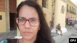 """Luz Escobar fue señalada en el informe del ICLEP como """"la mujer que más vejámenes padeció dentro del periodismo cubano"""" en 2019."""