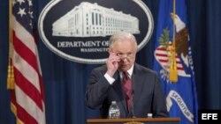 El fiscal general estadounidense, Jeff Sessions, durante una rueda de prensa. (Archivo)