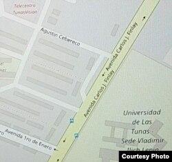 En este mapa el edificio 25 donde residiría el terrorista fugitivo Ishmael Labeet es el tercero desde la calle Agustín Cebereco hacia abajo, de los primeros cuatro perpendiculares a la Avenida Carlos J.Finlay (Cuba al Descubierto)
