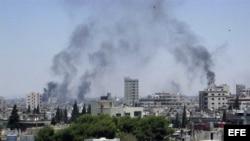 El Ejército bombardea la ciudad de Homs. Archivo.