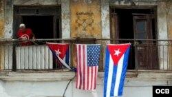 Balcón de un edificio en La Habana.
