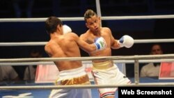 Robeisy Ramírez derrotó al subcampeón mundial uzbeko Murodjon Akhmadaliev.Foto:Juventud Rebelde