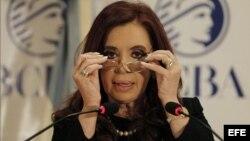 La presidenta de Argentina, Cristina Fernández de Kirchner