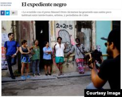 """Captura de pantalla del artículo de opinión publicado en el diario español """"La Vanguardia""""."""