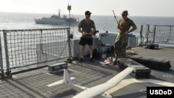 Drones en la Quinta Flota de EE UU.