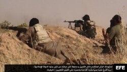 Fuerzas del grupo extremista Estado Islámico de Irak y el Levante.