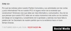 Comentarios de foristas en Cubadebate