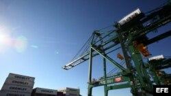 Vista de la terminal de contenedores del puerto del Mariel. Archivo.