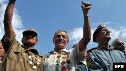 Veteranos combatientes cubanos