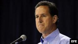 El precandidato presidencial republicano Rick Santorum.