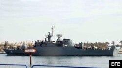 Foto de archivo de un buque de guerra iraní.