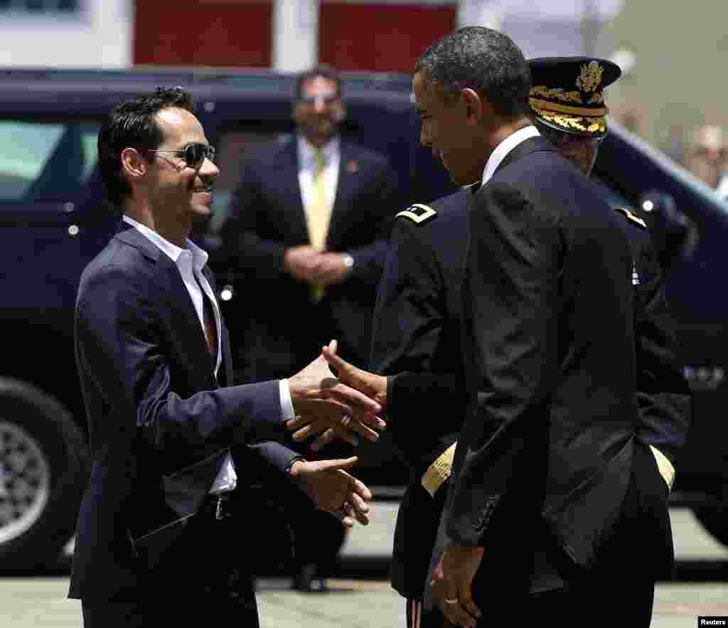 Marc Anthony estará junto a Obama.