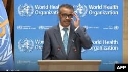 Tedros Adhanom, director de la OMS, durante la conferencia virtual de la organización (Foto: AFP/OMS).
