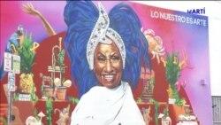 Inauguran mural de Celia Cruz en Miami