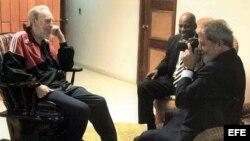El 15 de enero de 2008, Fidel Castro recibió a Luiz Inácio Lula da Silva, quien visitó Cuba por 24 horas.