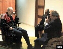 Fidel Castro recibe a Lula da Silva (15 de enero de 2008)