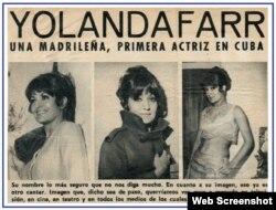 La actriz española era muy conocida en el mundo de la farándula cubana.