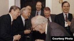 El humor de Ronald Reagan (i) en la Casa Blanca